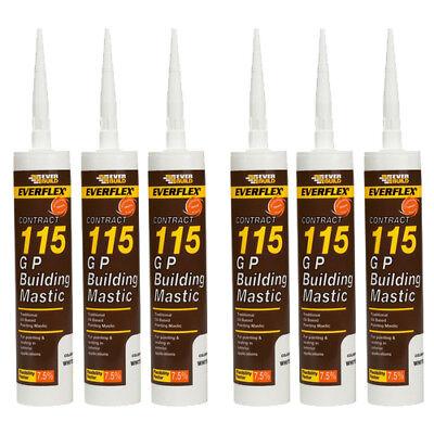 General Purpose Building Mastic Sealant 285ml Everbuild 115 GP Waterproof Mastic 3