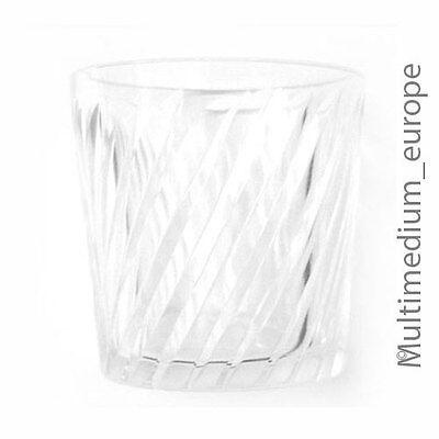 4 Stück Biedermeier um 1850 Becher Gläser geschliffen Klar Glas farblos poliert 4