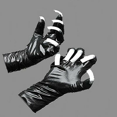 Traumhafte Gummi Latex Rubber Handschuhe Größe S mit Krallen black Top Marke 11