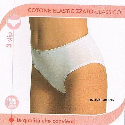 6 Slip Donna L'altra Cotonella Art. 3940 Con Tassello Antibatterico In Cotone