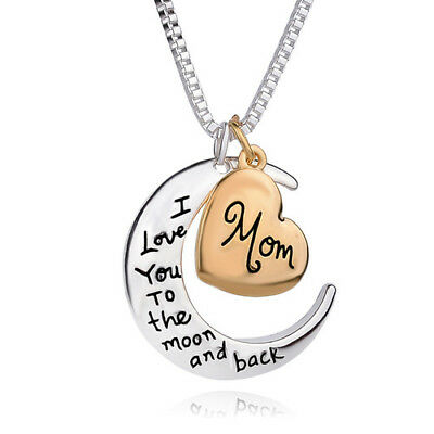 Mum Gold Crystal Necklace & Pendant NEW* Birthday Christmas Mothers Day Gift 4