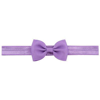 20X Baby Girls Bow Headband Hairband Soft Elastic Band Hair Accessories Pop. 11