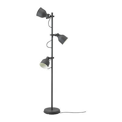 new ikea hektar floor lamp with 3 spots dark grey height 176 cm home - Ikea Floor Lamp