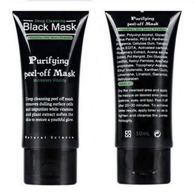 AU Blackhead Remover Nose Face Mask Strip Black Head Pore Acne Clean Mud / Brush 4