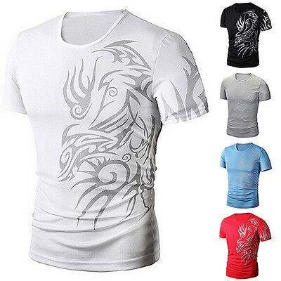 Men Slim Fit Short Sleeve Polo Tee Tops Stylish Summer Casual T-Shirts M-3XL 4