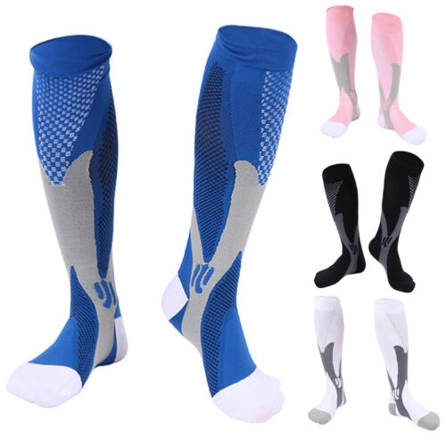 2 Pairs 30-40 mmhg Mens Over Knee High Compression Socks Running Long Scokings 4