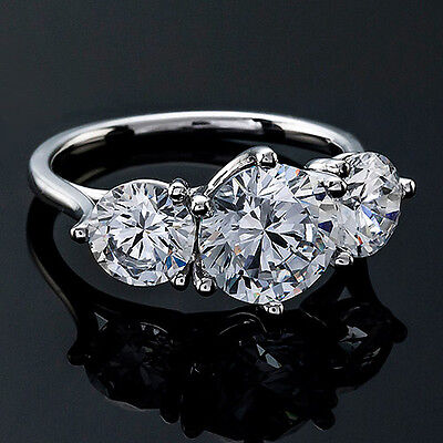 1 CT ROUND CUT DIAMOND G/VS2 SOLITAIRE ENGAGEMENT RING 14k WHITE GOLD 2