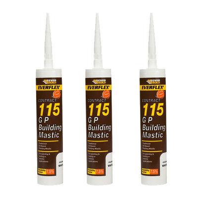 General Purpose Building Mastic Sealant 285ml Everbuild 115 GP Waterproof Mastic 2