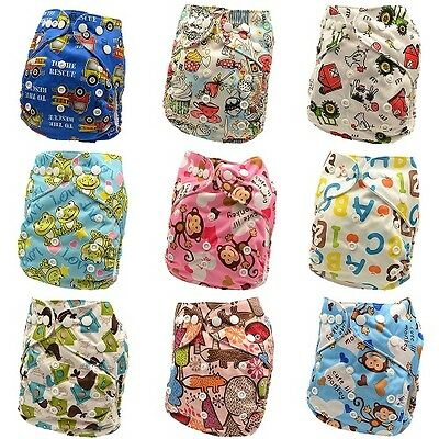 10 x Reusable Modern Cloth Nappies & Inserts All Size Diapers Print Bulk sales 7