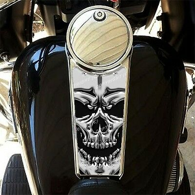 Custom Gas Tank Dash Console Insert Decal for 87-07 Harley Touring BLACK SKULL