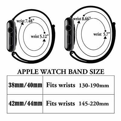 Sport Nylon Woven Loop Strap iWatch Band 38mm 42 for Apple Watch Series 4 3 2 1 7