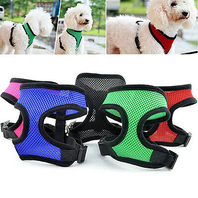 Soft Mesh Pet Harness Pet Control Walk Collar Safety Strap Dog Cat Vest CA RR 4