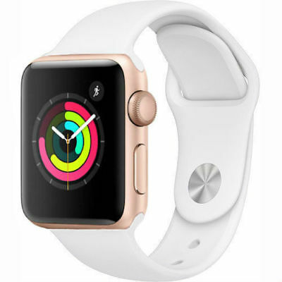 Apple Watch Series 1 42mm Aluminum Case - Space Gray Silver Gold Rose Sport Band 4