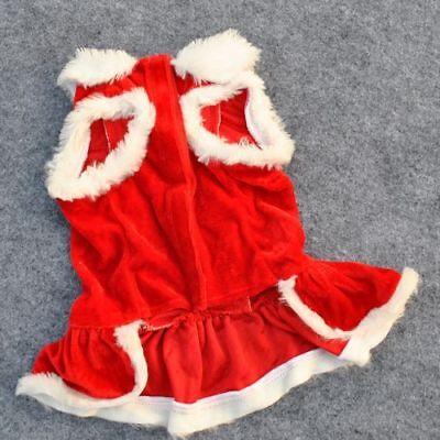 Pet Dog Puppy Santa Shirt Christmas Clothes Costumes Warm Jacket Coat Apparel 3