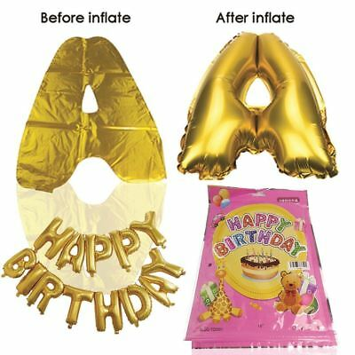 Large Happy Birthday Self Inflating Balloon Banner Bunting Party & Decoration Uk 5