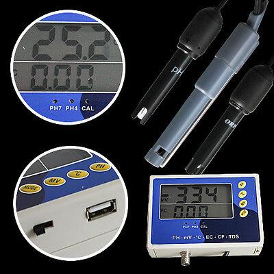 Ph Messgerät Leitwert Leitfähigkeit Redox Temperatur Meter Ec Ppm Aquarium P28 3