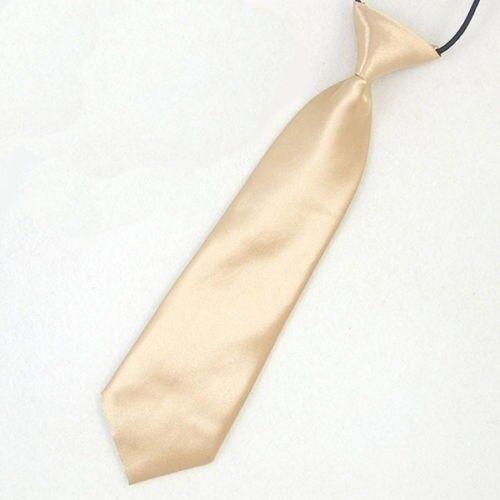 Satin Elastic Neck Tie for Wedding Prom Boys Children School Creative Kids Ties 2