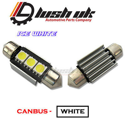 2x SEAT LEON MK2 FR LED Pure White Super Bright Canbus Number Plate Light Bulbs