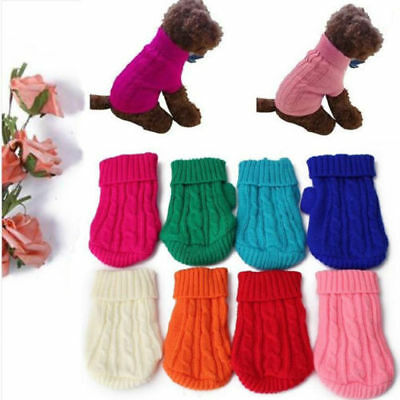 Popular Pet Cat Dog Knitted Jumper Sweater Winter Puppy Warm Coat Jacket Clothes 2