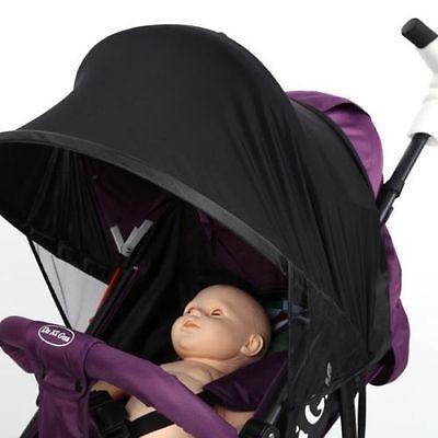 Baby/Child Pushchair Stroller Pram Buggy Sun Shade Canopy Cover Universal Black 8
