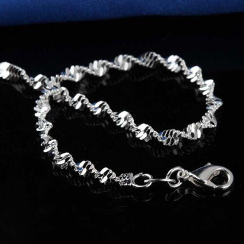 Fußkettchen Sandale Silber 925 Singapurkette Sterlingsilber 25cm Fußkette Schuh Jewelry & Watches