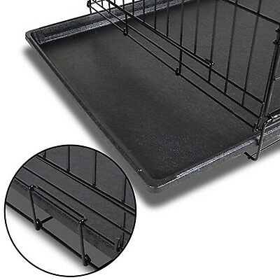 Collapsible Pet Dog Cage Wire Metal Crate Kennel Portable Puppy Cat Rabbit House 4