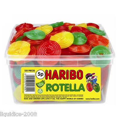 1 X Full Tub Haribo Sweets Candy Children's School Bags Treat Sweet Gift Party 6