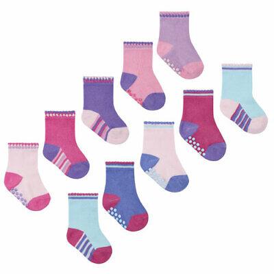 """Bnwt- 10 """"Tick Tock"""" Girls Gripper Socks  - 0-0, 0-2.5, 3-5.5 -Free Post To Uk 6"""