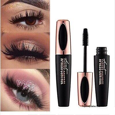4D Silk Fiber Eyelash Mascara Extension Makeup Black Waterproof Eye Lashes USA 4