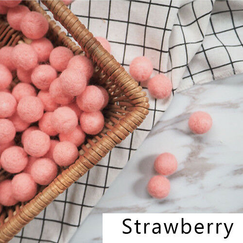 10pcs Fluffy Wool Felt Balls DIY Nursery Garland Decor Pram Hanging Ornament New 7