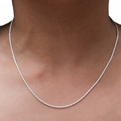 REAL Classic 925 Sterling Silver Chain Necklace SOLID SILVER 925 Jewelry Italy 3