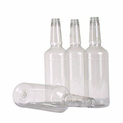 Dozen Long Neck Quart Plastic Bottles with Screw on Lids 3