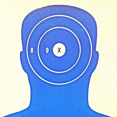 Paper Shooting Targets Black Silhouette Gun Pistol Rifle B-27 Qty:50 23x35