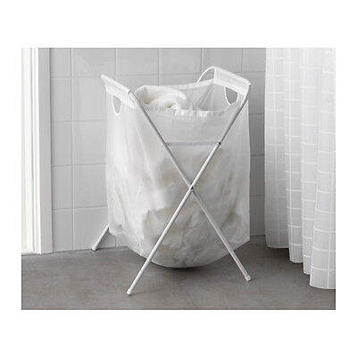 Capacity 8kg//70L 2x Ikea JALL White Laundry Washing Linen Clothes Basket Bag