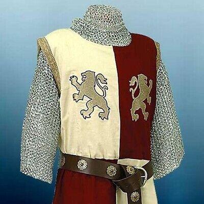 MEDIEVAL KNIGHT LION HEART Tunic Surcoat Crusader Sleeveless Renaissance LARP