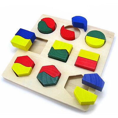 Children Baby Educational Wood Puzzle Shape Classification Early Learning Toys 2