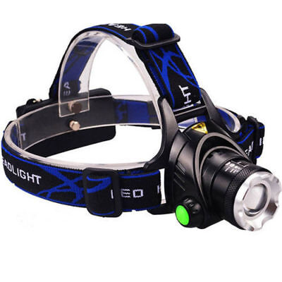 90000Lumens T6 LED Zoomable Headlamp Rechargeable 18650 Headlight Head Lamp USA