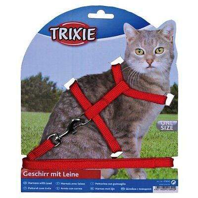 Trixie Nylon Cat Harness And Lead Set Collar Adjustable 4185 2