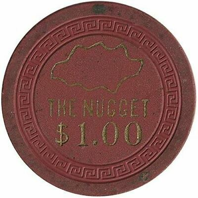 The Nugget Casino Reno NV $1 Chip 1955 2
