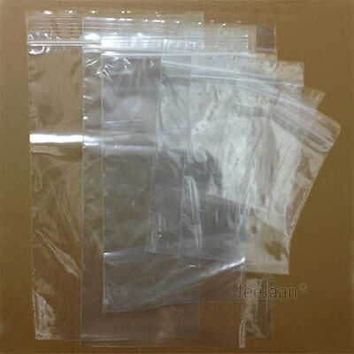 Grip Seal Bags Self Resealable Grip Poly Plastic Clear Zip Lock MIX [All Sizes] 2