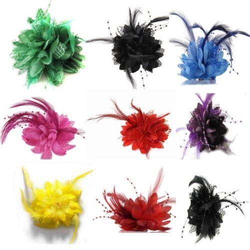 Flower Feather Hat Hairgrip Hairpins Fascinator Hair Tools Headpiece Hair Clips 6