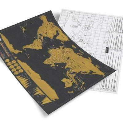 Deluxe Travel Edition Scratch Off World Map Poster Personalized Journal Log 4