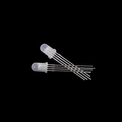 20pcs Ultra-Bright 10mm 4pin RGB Diffused Lens LED Lamp Light Common Anode CG
