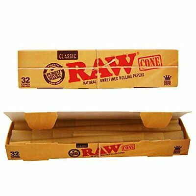 RAW Classic King Size Cones Mega Pack 32 Cones - Pre Rolled Rolling Papers - 2