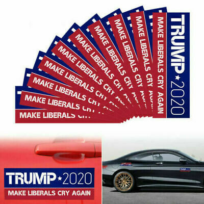 20X Trump 2020 Bumper Sticker Keep Make America Great Make Liberals Cry Again Bu 2