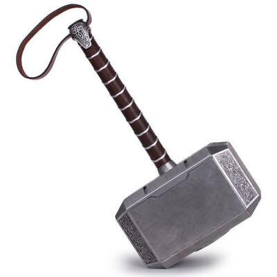 1:1 Full Solid Avengers Thor Hammer Resin Base Halloween Cosplay Props US Seller 2