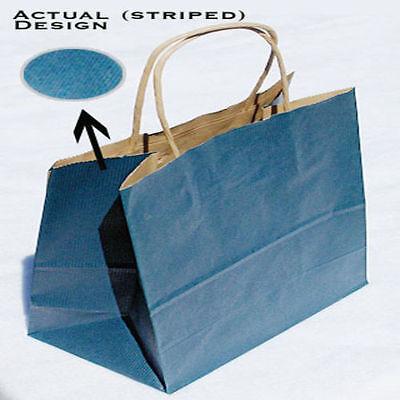 200pk Queen Tinted Shadow Stripe Paper Bag Large Retail Shopper 16 X 6 X 19.25