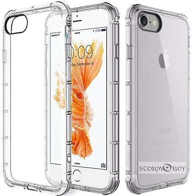 Fits Iphone  6 / 6S / 7 Plus / 8 Plus /SE Case Clear Bumper Protective TPU Cover