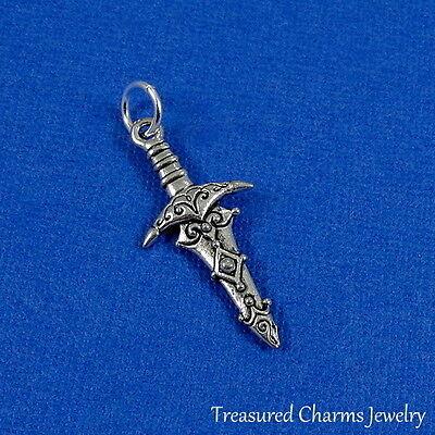 Free Ship 30Pcs Tibetan Silver dagger Pendant Charms Fit Bracelet 23x11mm