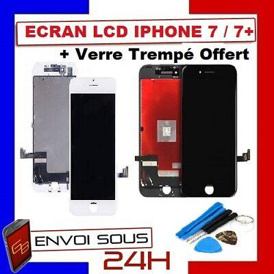 ECRAN LCD VITRE TACTILE NOIR BLANC IPHONE 7 /  7 plus  iphone 8 OU 8 PLUS 2
